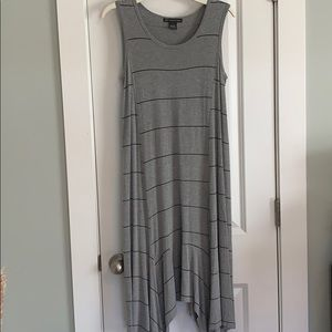 Adrianna Papell Gray Handkerchief Dress